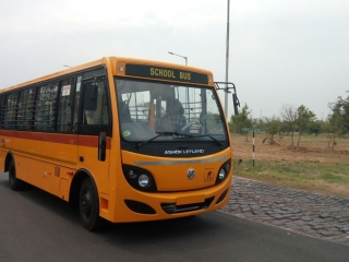 Ashok Leyland Sunshine School Bus(Pilot Testing) - May17th, 2017